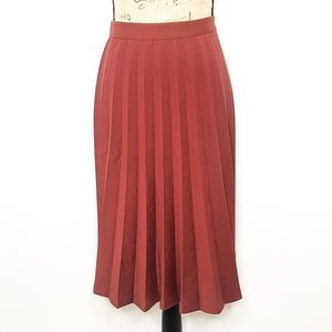 Kate Spade Red Rust Pleated A Line Sonny Skirt